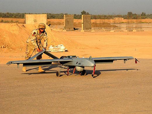 Amerykański bezzałogowieć  RQ-7 Shadow w Iraku